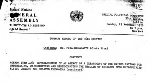 UN resolution UFO
